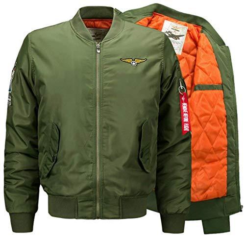 Casual Fuerza Ropa Bombardero con Invierno Chaqueta 1 V Deporte Chaqueta Vuelo green Aérea En Ligero para Acolchado Chaqueta para De Hombre Otoño Clásica Y Cuello Fpw6CYT6q