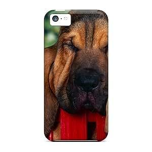 New Tpu Hard Case Premium Iphone 5c Skin Case Cover(animals Bloodhound)