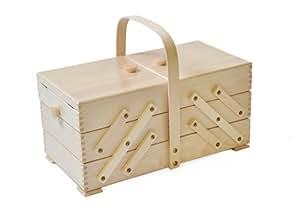 Aumuller Korbwaren AUMUL - Scatola da cucito, con legno di faggio