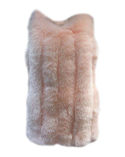 Cardigan Cappotto Donna Cappuccio Gladiolus Parka Pink Faux Giacca Lungo Caldo Pelliccia Con Fn6wgUYqwx
