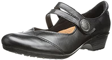 Rockport Cobb Hill Women's Gemma-Ch Mary Jane Flat,Black,6 M US