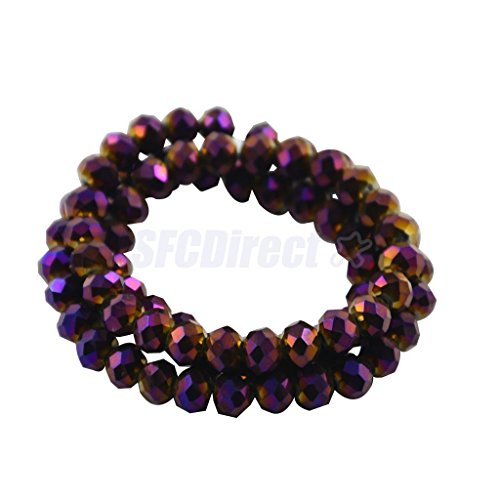 6x8mm Chinese Opaque Faceted Rondelle Crystal Glass Loose Beads Jewelry Making
