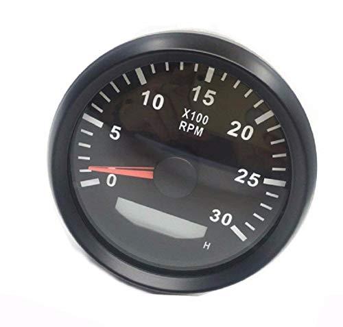 Resistente al agua tacó metro Rev Contador Medidor de RPM con hora medidor 0 –  3000 rpm 85 mm 9 –  32 V con retroiluminació n ELING