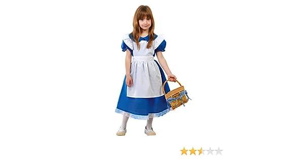 FIESTAS GUIRCA Disfraz niña pequeña vestidito Azul Talla 7-9 años: Amazon.es: Juguetes y juegos