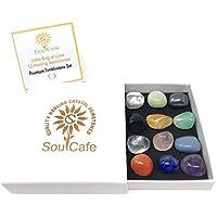 Premium Healing Gemstones Starter Set - 12 Crystal Tumblestones - Includes Soul Cafe Crystal Information Tag