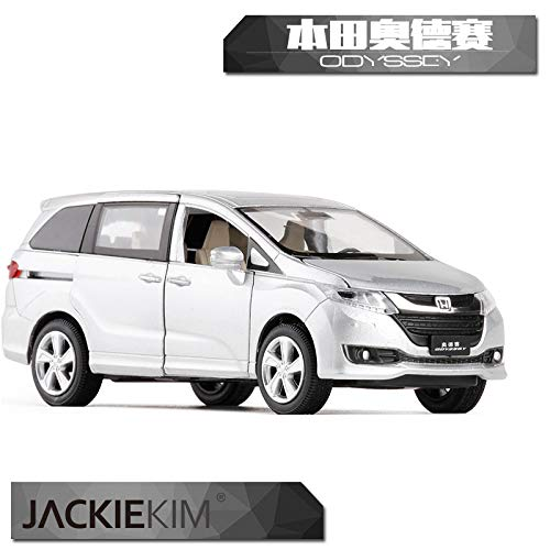 JACKIEKIM 1/32 Scale Car Model Toys Honda Odyssey MPV Sound&Light Diecast Metal Car Model Toy for Gift/Kids/Collection