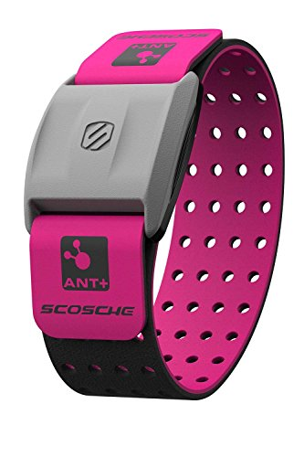 Scosche RHYTHM+ Heart Rate Monitor Armband Pink Optical Heart Rate Armband Monitor With Dual Band Radio ANT+ and Bluetooth Smart RTHM19