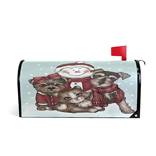 Snowman 18 Team (NOAID Christmas Petes and Snowman Magnetic Mailbox Cover Wraps Oversized-25.5