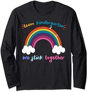TEAM KINDERGARTEN We Stick Together Rainbow Teacher Student Long Sleeve T-shirt   Size S - 5XL