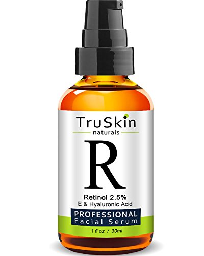 BEST Retinol Serum for Wrinkles & Fine Lines - Vitamin A + Hyaluronic Acid, Vitamin E, Organic Green Tea, Jojoba Oil - Works Best With TruSkin Naturals Vitamin C Anti Aging Serum - 1 Ounce