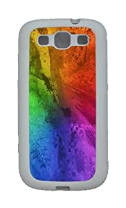Colorful Paint Brush Strokes Custom TPU Rubber Soft Case and Cover for Samsung Galaxy S3 /S III White