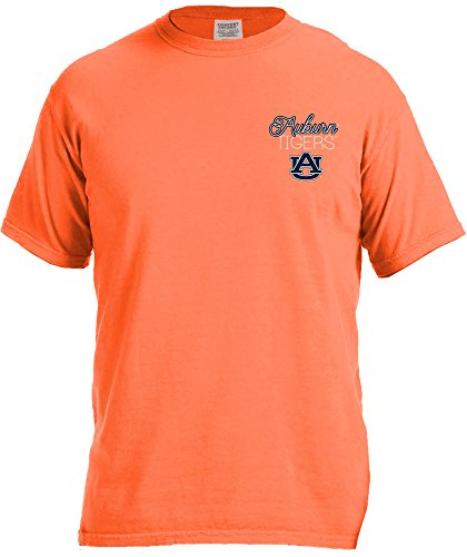 NCAA Auburn Tigers Women's Laces & Bows Color Short Sleeve T-Shirt, XX-Large,BurntOrange
