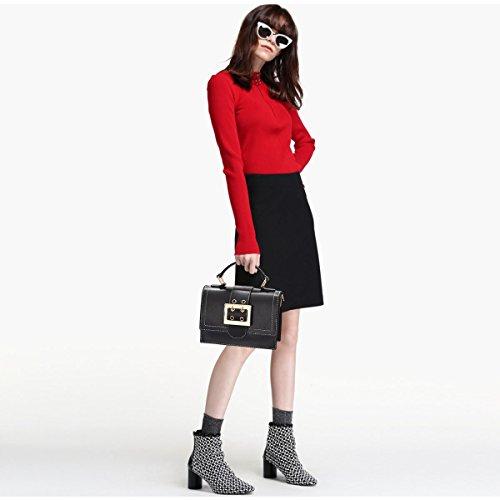 Coreano Rosso Di Femminile Spalla Per Stile Borsa Ragazza Versione Moda vino Doris Nera Mini Nicole Messenger Sacchetto Nuova amp; 2018 SxSfvU