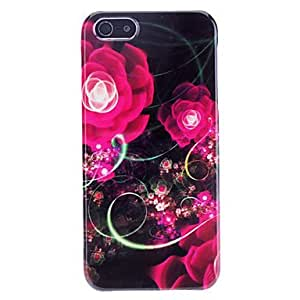 Colorful Rosy Flower Pattern Hard Case for iPhone 5/5S