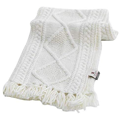 100% Irish Merino Wool Handknitted Aran Scarf by Carraig Donn