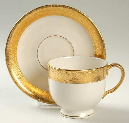 (Lenox Westchester Footed Cup & Saucer Set, Fine China Dinnerware)