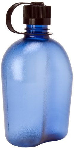 Nalgene 340953 OASIS Blue Bottle With Black Cap, 32 oz