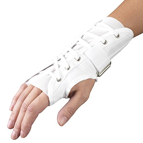Wrist Splint Lace - Cloth Wrist Splint Reversible Back Lace w/ Hook and Loop (Medium 6.5-8.5