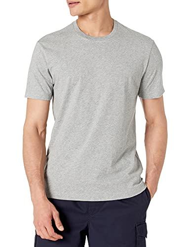 Amazon Brand - Goodthreads Men's Slim-Fit Short-Sleeve Crewneck Cotton T-Shirt, Heather Grey, Large