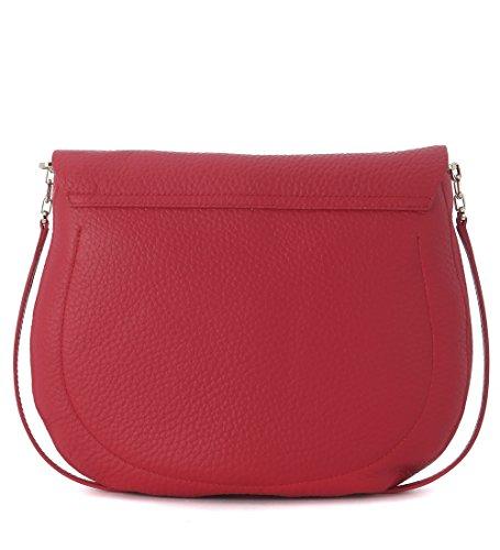 Bolso con bandolera Furla Club M en piel rojo rubí