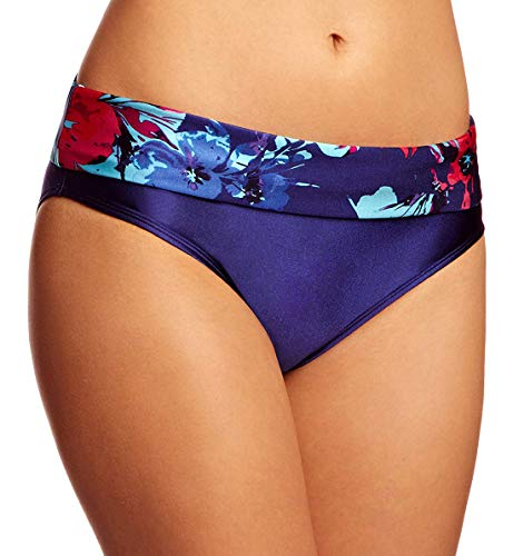 (Panache Women's Tallulah Folded Bikini Brief Floral Print 10 )