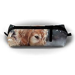 62dc7a8c6ee35 Golden Retriever Dog Pencil Case In Snow Pencil Bag Pen Case  Multi-Functional Felt Pouch