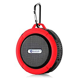 Speaker Promotional IPX4 Waterproof Wireless Suction and Clip Bluetooth Speaker OEM Portable Speaker (Red)