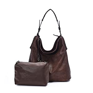 DDDH Women Handbags Hobo Shoulder Bags Tote Leather Handbags Fashion Large Capacity Bags(Coffee new)