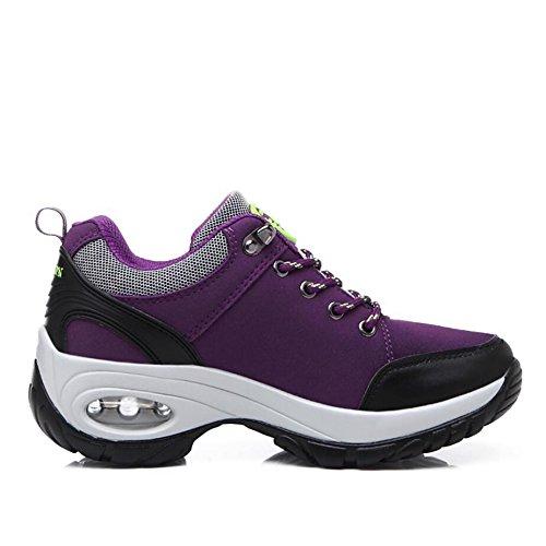 Damen Wandern und Trekking Schuhe rutschfeste wasserdichte Sportschuhe leicht und langlebig , purple , 38