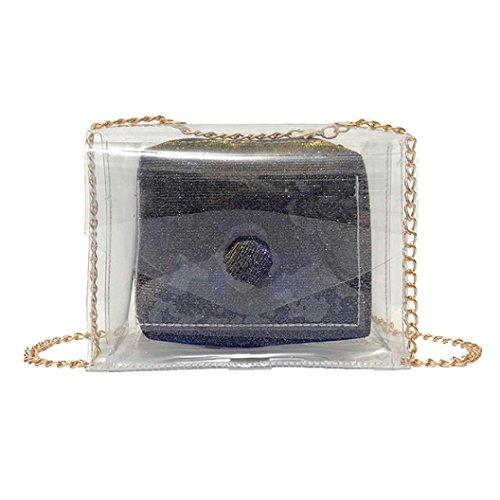 YJYDADA Pink Transparent Bag Bags Bag Bag Messenger Laser Women Fashion Blue Crossbody Shoulder qWwrSFqpPT