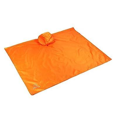3en 1d'escalade Pêche randonnée imperméable Poncho de pluie Porter Camping Pad Tapis de l'humidité étanche Tente Parasol Tapis de sol (Orange)
