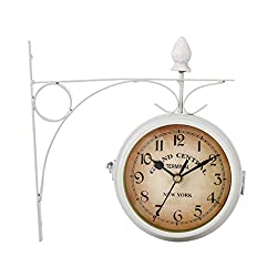 liumiKK European-Style Classic Wall Clock Double Sided Vintage Retro Home Office Decor