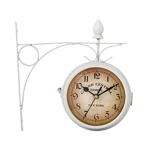 Price comparison product image liumiKK European-Style Classic Wall Clock Double Sided Vintage Retro Home Office Decor