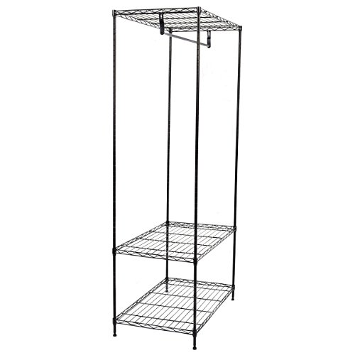 3-Tier Clothing Garment Rack Hanger Shelving Wire Shelf Dress Portable Wardrobe New by barebear70