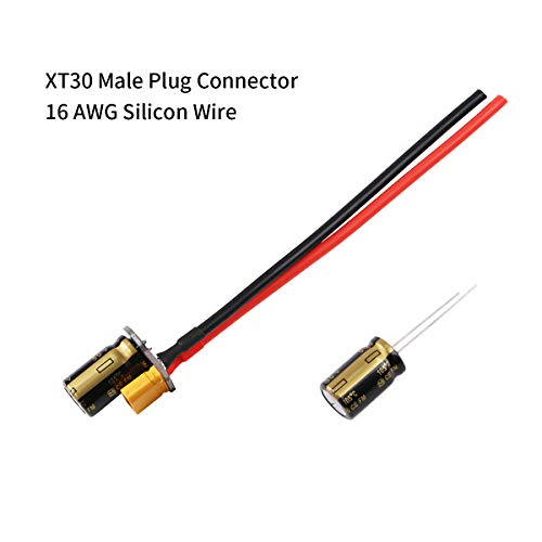 Plug Connector Cable with Capacitor for RC Drone Power Supply 3-6s Lipo Battery Cable Extend FPV ESC PDB ()