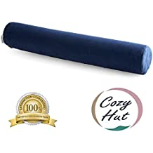 Cozy Hut Comfort Memory Foam Neck Roll Pillow Lightweight Round Cervical Support Pillow for Spine and Neck Back Support 24X4 in.
