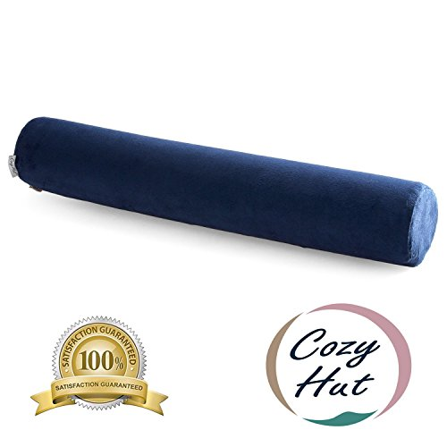 Cozy-Hut-Comfort-Memory-Foam-Neck-Roll-Pillow-Lightweight-Round-Cervical-Support-Pillow-for-Spine-and-Neck-Back-Support-24X4-in