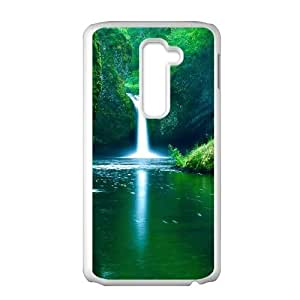 Waterfalls LG G2 Cell Phone Case White Exquisite gift (SA_578540)