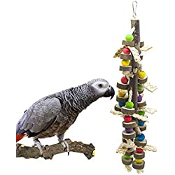 SHANTU Natural Wood Bird Chewing Toys-Natural Blocks Parrot Tearing Toys Best for Finch,Budgie,Parakeets,Cockatiels, Conures,Love Birds and Amazon Parrots
