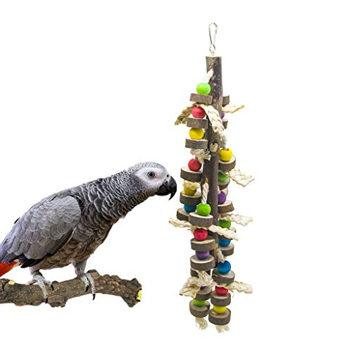 Wood Chew Toy Corn - SHANTU Natural Wood Bird Chewing Toys-Natural Blocks Parrot Tearing Toys Best for Finch,Budgie,Parakeets,Cockatiels, Conures,Love Birds and Amazon Parrots