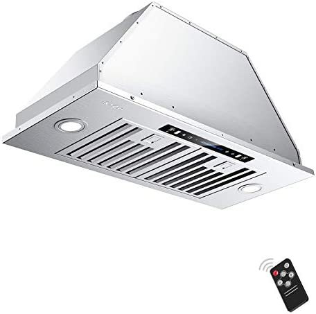 Ducted Ductless Convertible Duct Iktch 36 Inch Built In Insert Range Hood 900 Cfm Stainless Steel Kitchen Vent Hood With 2 Pcs Adjustable Lights And 3 Pcs Baffle Filters Appliances Range Hoods