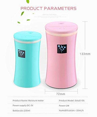 RuiQi KeJi Ultrasonic Cool Mist Humidifier with LED light&Whisper Quiet&Portable USB Powered for Home Office Car Travel Yoga Spa, 230ml by RuiQi KeJi (Image #4)