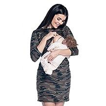 Zeta Ville - Womens maternity nursing layer dress - camouflage pattern - 180c