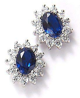 3279610c2 Amazon.com: Bay Studio Blue Cubic Zirconia Princess Stud Earrings ...