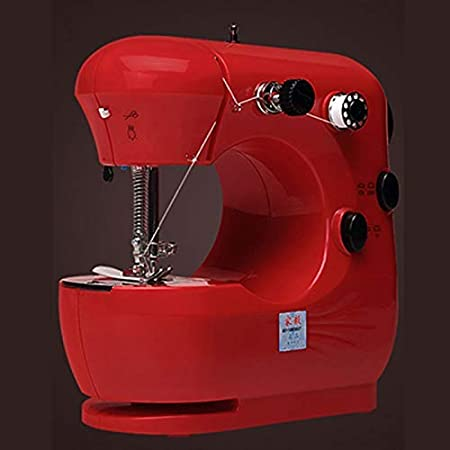 SEESEE.U máquina de coser a mano, mini máquina de coser portátil de mano mini máquinas de coser de mano para coser tejidos de costura sin cables: Amazon.es: Hogar