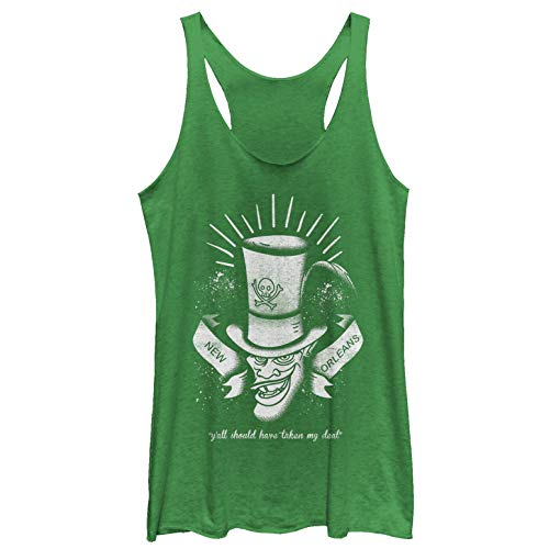 The Princess and The Frog Women's Shadow Man Deal Envy Green Racerback Tank Top (The Princess And The Frog The Shadow Man)