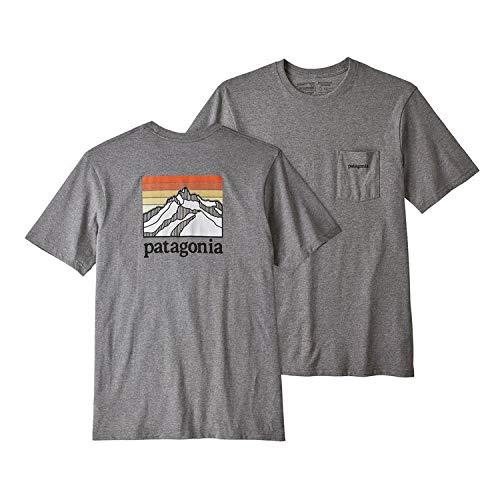Patagonia Pocket Pack - Patagonia Men's Line Logo Ridge Pocket Responsibili-Tee - Gravel Heather L