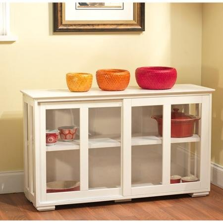 Sliding Tempered Stackable Storage Cabinet