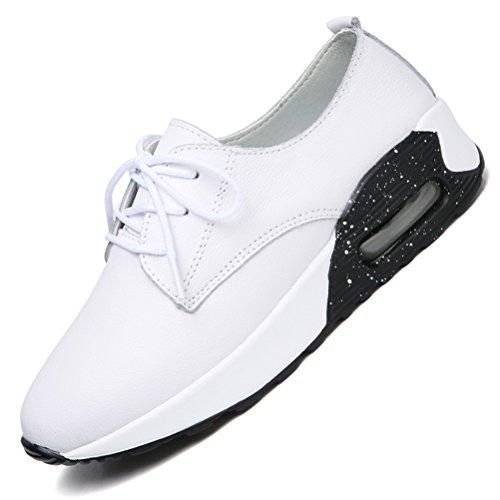 Blanco Andar Deportes Zapatos Hishoes Corriendo de Deporte Mujer cordones Plataforma Zapatilla de Deporte t7dzdwxq