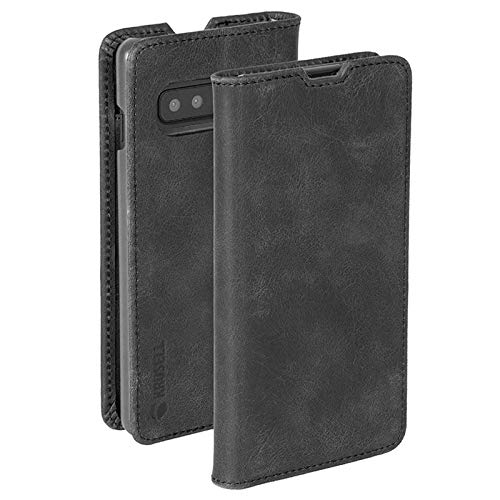 Krusell Genuine Leather Sunne 2 Card FolioWallet Case for Samsung Galaxy S10 in Vintage Black